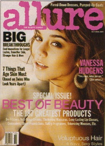 VANESSA HUDGENS COVERS ALLURE MAGAZINE